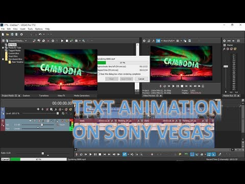 HOW TO MAKE TEXT ANIMATION ON SONY VEGAS PRO17
