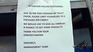 Rationing Toilet Paper, really  - Joe and Cindy go shopping at Walmart Kelowna, March 15, 2020