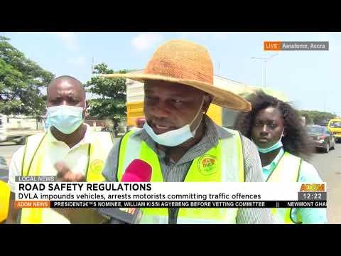 DVLA impounds vehicles, arrests motorists committing traffic offences - Premotobre Kasee (22-7-21)