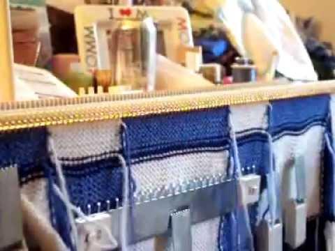 Intarsia machine knitting LK-150 - YouTube