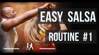 Easy Salsa Dancing for beginners ❤️ Routine 1