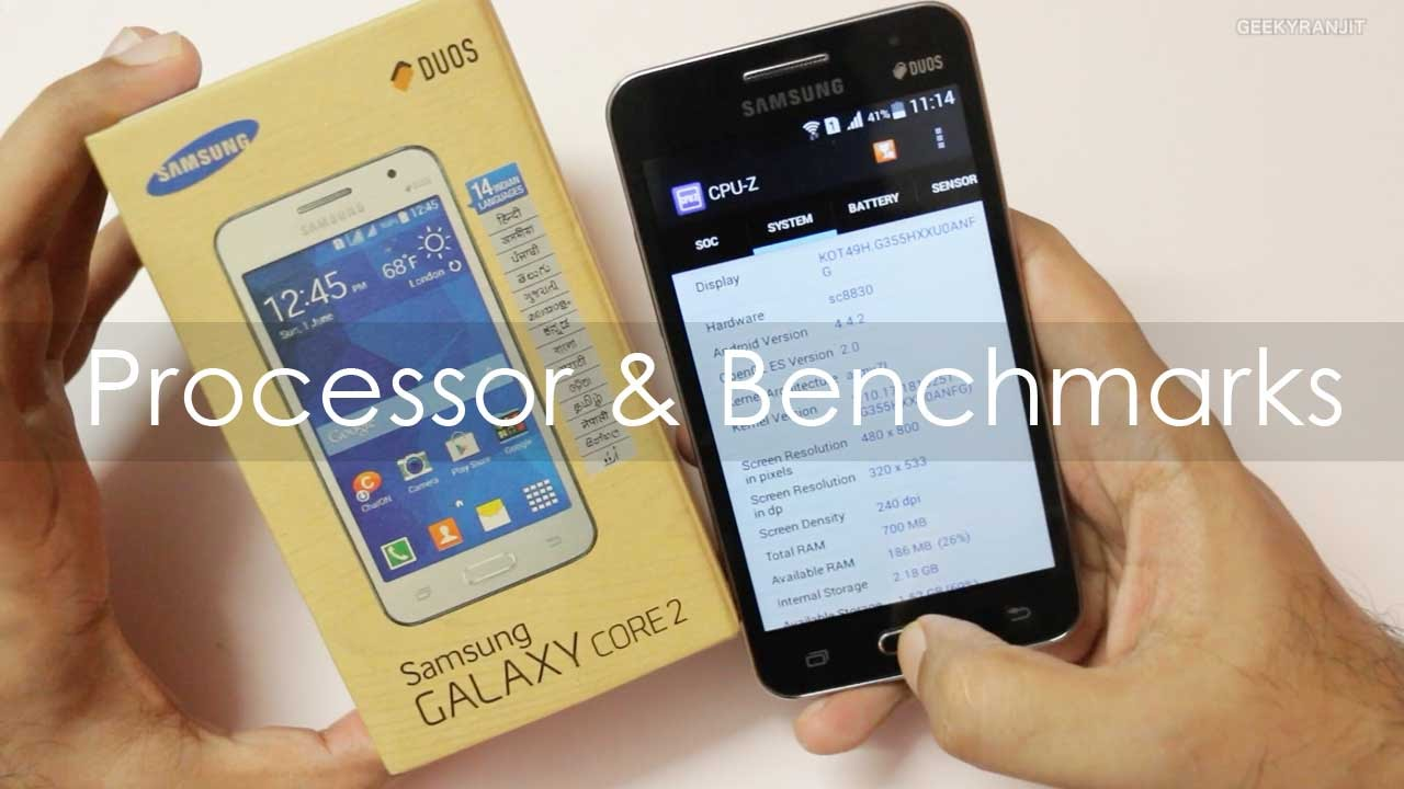 Samsung Galaxy Core 2 Processor Chipset Used Benchmarks Youtube