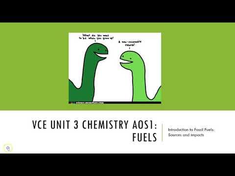 FE1 VCE Unit 3 Fuels Introduction