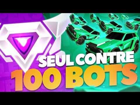 J'ai affronté 100 BOTS sur Rocket League... 😈
