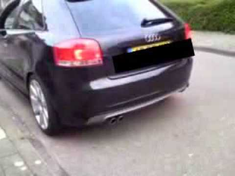 audi a3 3 2 v6 quattro s3 8p supersprint exhaust youtube. Black Bedroom Furniture Sets. Home Design Ideas