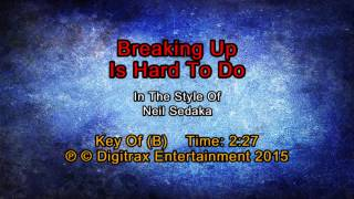 Neil Sedaka - Breaking Up Is Hard To Do (Backing Track)