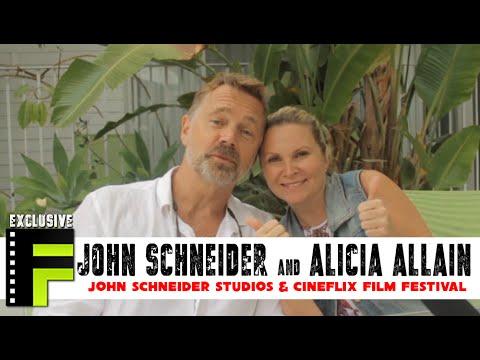 john schneider amp alicia allain talk cineflix film festival