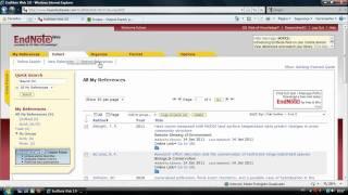 EndNote Web: Importando referências