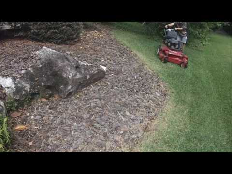 Lawn Care Vlog #6 - Mowing my yard in real time