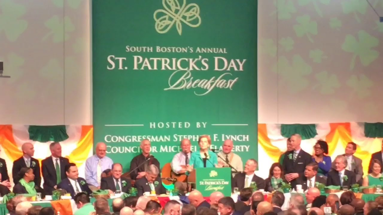 The South Boston St. Patrick's Day Breakfast returned again with lots of jokes  some of them good