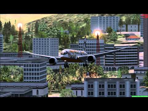 FSX Approaches and Landings into Hong Kong's Kai Tak International Airport Part 1