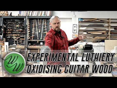 Oxidising Guitar woods with Vinegar and Wire Wool - an Experiment