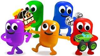 ЖИВАЯ КАПСУЛА. Киндер Сюрприз. Учим цвета. Kinder Surprise. Learn Colors.
