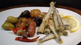 Рыбные Чипсы с Запеченной Картошкой Рецепт Димы Кулинахера Fish Chips with Garlic Roasted Potatoes