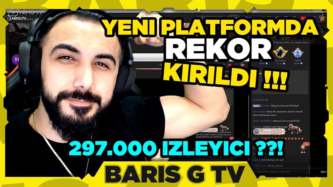 NİMO TV'DE İLK YAYINIMIZDA İZLEYİCİ REKORUNU KIRDIK !!!!