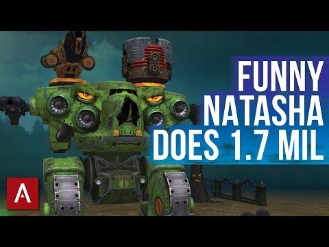 War Robots HALLOWEEN -  Funny Natasha is BOSS | Funny Builds Friday Ep.28