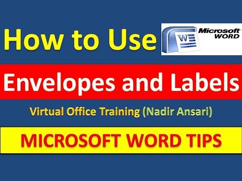 how to use labels in word