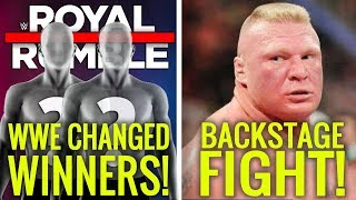 WWE Last Minute CHANGED 2020 Royal Rumble Winners! Reason For REAL Backstage Altercation!