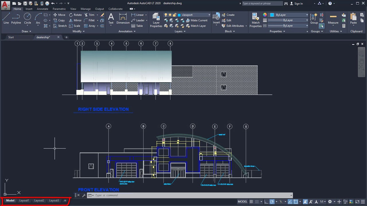 AutoCAD LT 2020 | User Interface Tour - YouTube