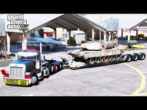 GTA 5 REAL LIFE MOD ANOTHER DAY AT WORK #49 Transporting Military M1A1 Abrams Tank To Fort Zancudo
