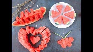 Top 4 cách bổ dưa đốn tim khách đến chơi nhà dành cho người lười - Easy way to cut a watermelon