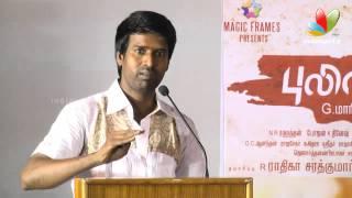 Repeat youtube video Soori Speech at Speech at Pulivaal Tamil Movie Press Meet  | Prasanna, Vimal, Oviya