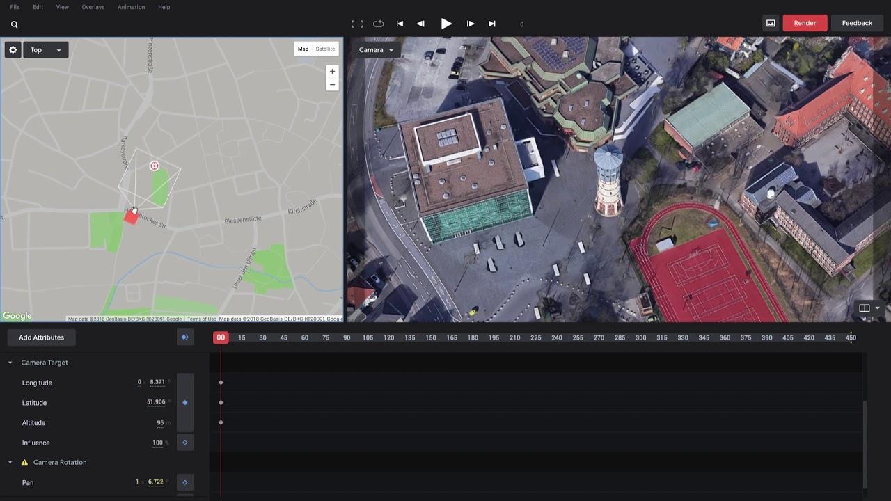 Camera Target – Google Earth Studio