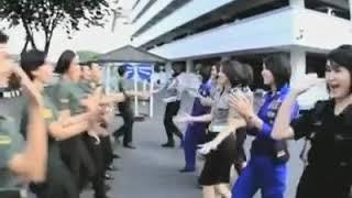 Polwan Cantik Vs TNI Cantik