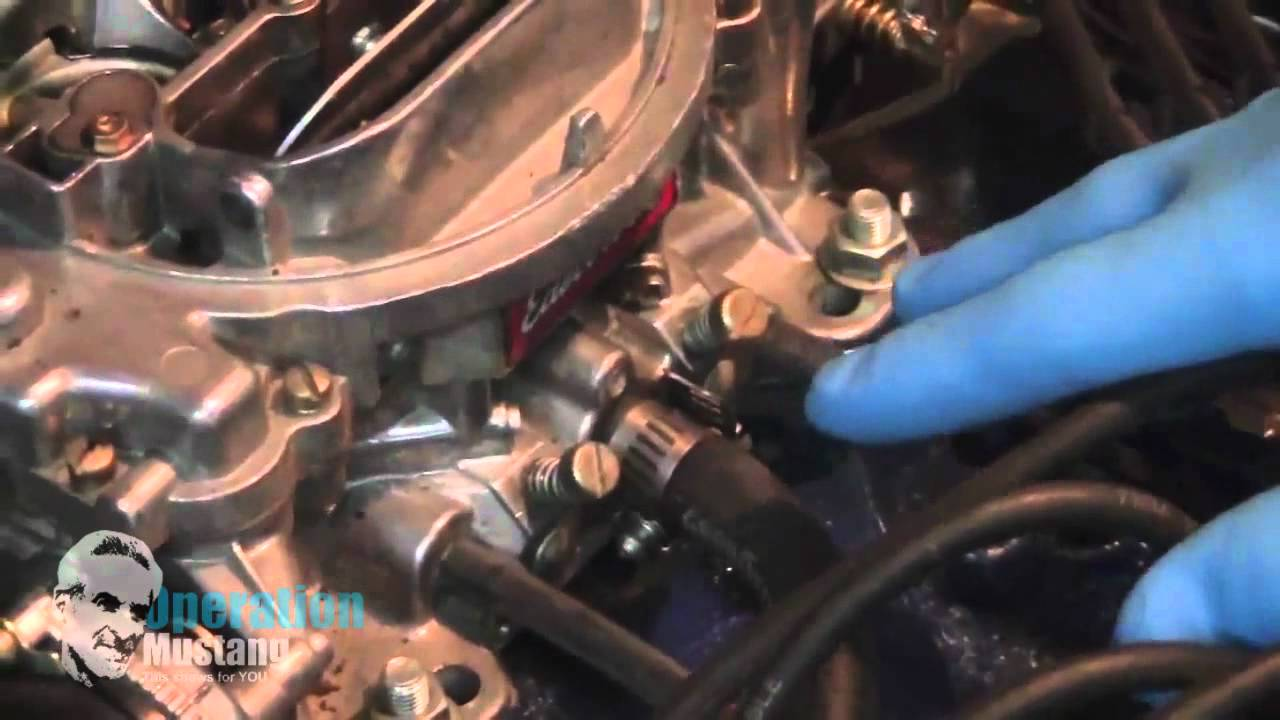 adjust the gas idle mixture screws on your edelbrock carburetor youtube [ 1280 x 720 Pixel ]
