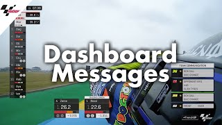 From Mapping 8 to Back to Box: Dashboard messages in MotoGP™