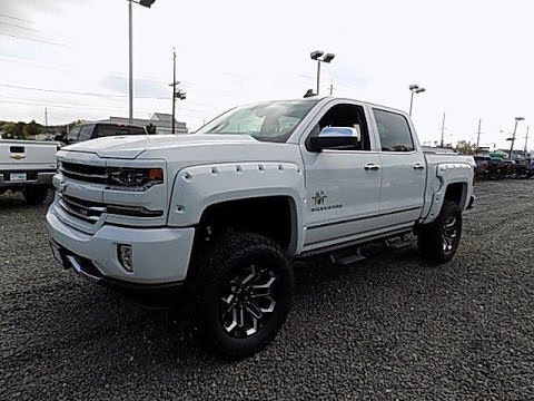 Lifted White 2017 Chevy Silverado 1500 Ltz Z71 Black Widow