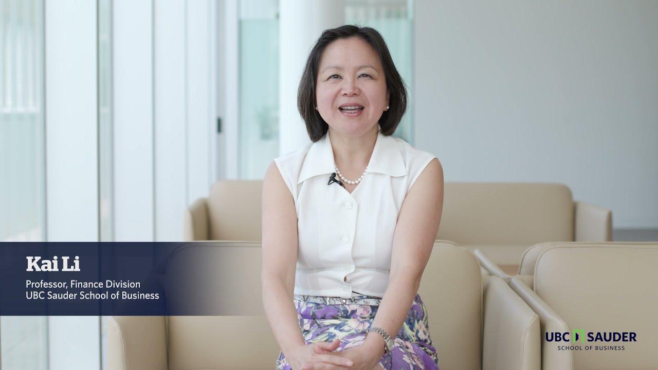 Video thumbnail for UBC Sauder Faculty Spotlight: Kai Li
