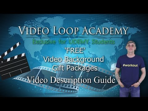 UDEMY Video Editors Video Background Guide for Taylored Video Backgrounds & Loops