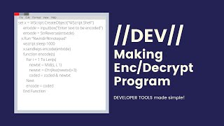 How To Make An Encryption And Decryption Program