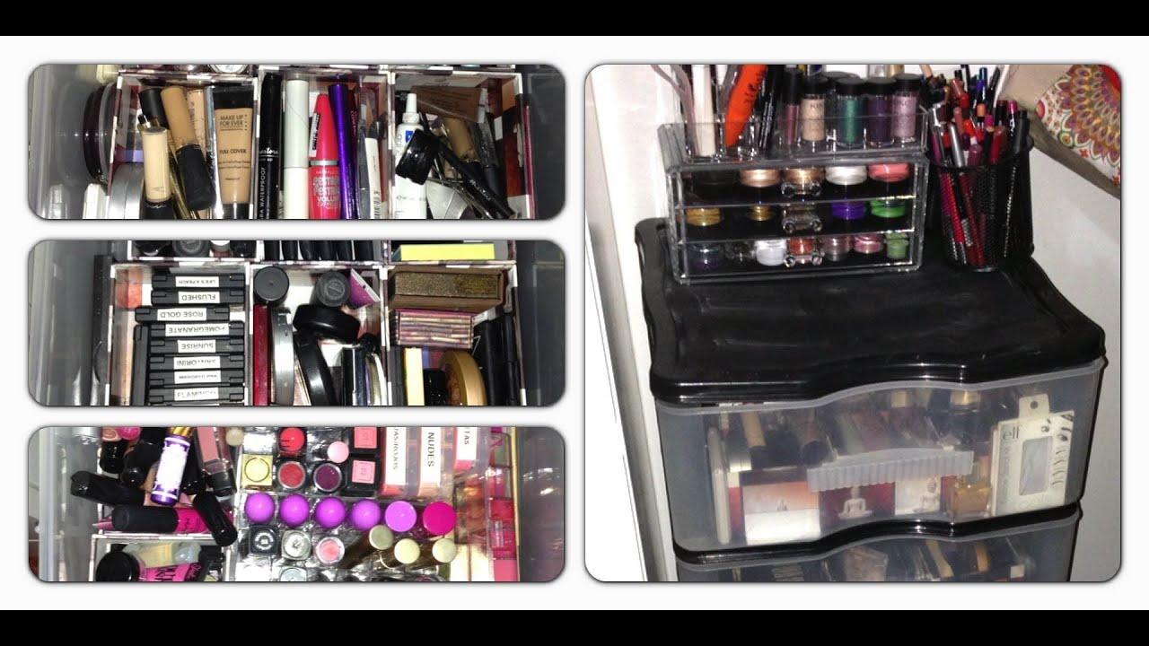 Cómo organizo mi maquillaje (2013)  YouTube
