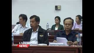 Lao NEWS on LNTV: The annual meeting of (ISWG) unveils Efficiency must be a priority.1/10/2014