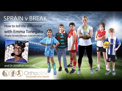 Sprain vs break - How to tell the difference  - Orthoclinic Sydney