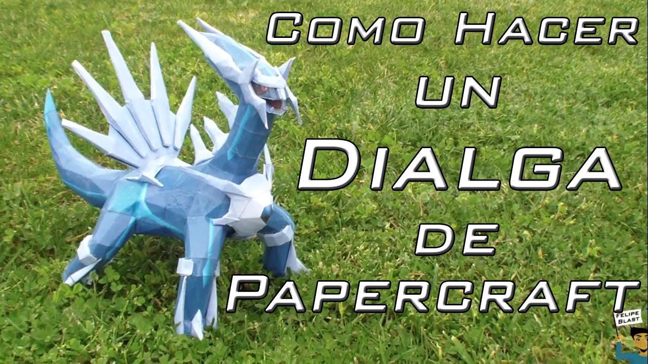 Papercraft [M-H] Como hacer un Dialga de papel (Pokemon Papercraft #3) | FelipeBlast