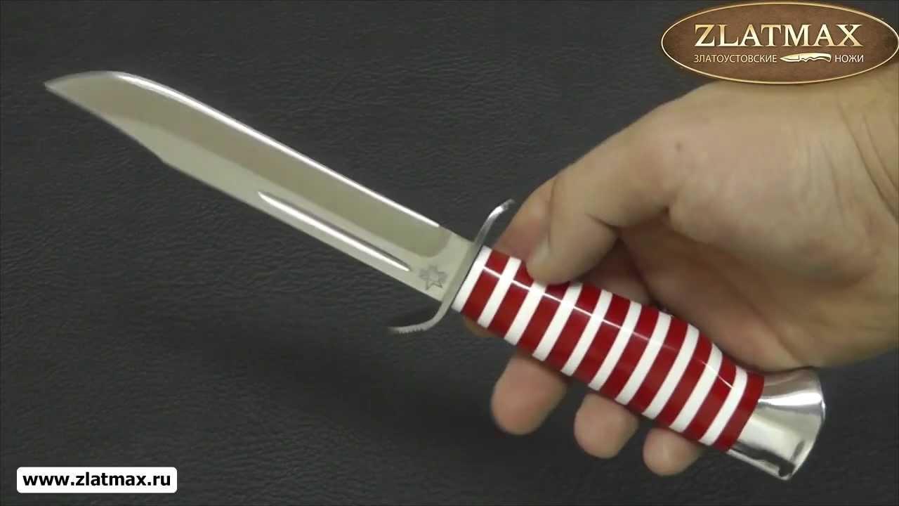 Видео Нож Штрафбат-Спецназ (95Х18, Оргстекло, Нержавеющая сталь, Алюминий)