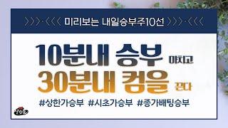 데이트레이딩 미리보는 내일승부주10선 - KMH.대웅제약.한국유니온제약.켐온.이트론.비케이탑스.신성이엔지.케…
