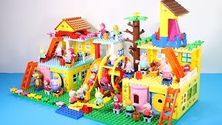 Peppa Pig Lego House With Water Slide Toys - Lego House Creations Toys For Kids #3