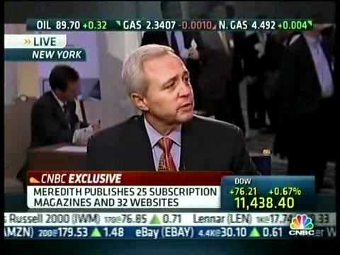 Meredith Corp CEO Stephen Lacy on CNBC 12/7/10