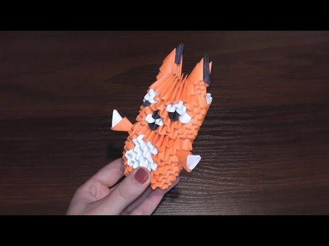 Модульное оригами схема сборки фламинго