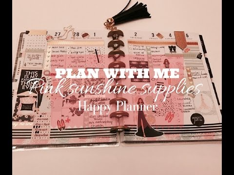 Plan With Me // ft. Pink Sunshine Supplies on Happy Planner // March