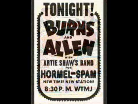 Spam Radio Jingle - Burns & Allen with Artie Shaw & his Orchestra