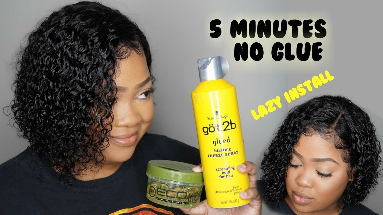Download Lazy 5 Minute Lace Wig Install | No Glue Needed