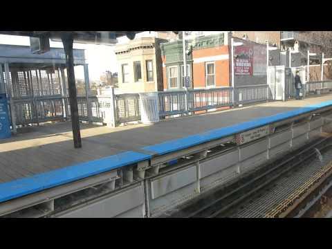 CTA Train Ride From Diversey To Harold Washington Library.