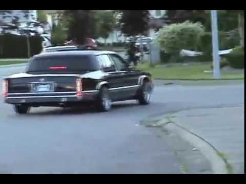 Cadillac Fleetwood Swangas Gold Edition 92 49l On Spokes Hids