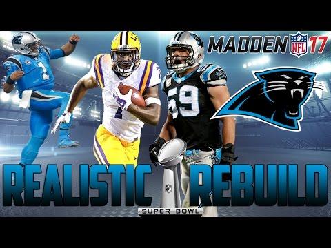 Madden 17 Connected Franchise Mode | Realistic Rebuild: Carolina Panthers | Leonard Fournette Eats!