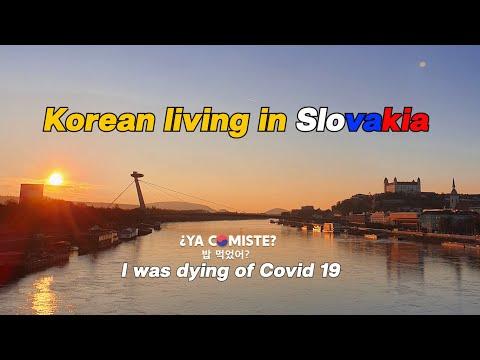 Coreano presenta Bratislava, el capital de Eslovakia, Gratis la prueba de Corona virus!!